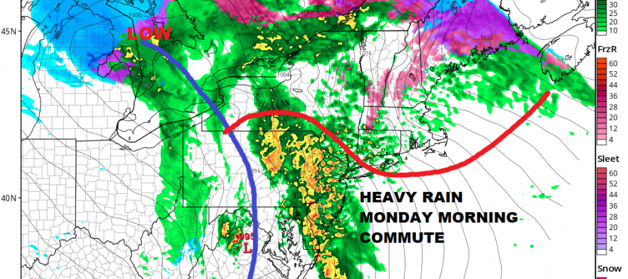 Heavy Rain Thunderstorms Monday Morning Commute