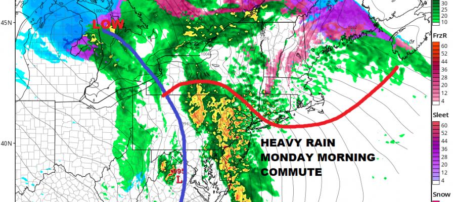 Heavy Rain Thunderstorms Monday Morning Commute