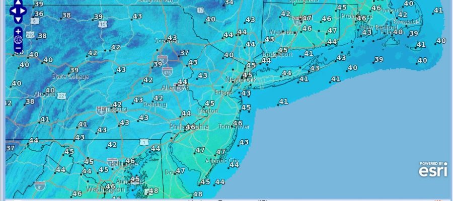 Cold Cloudy Saturday As Coastal Storm Moves Well East