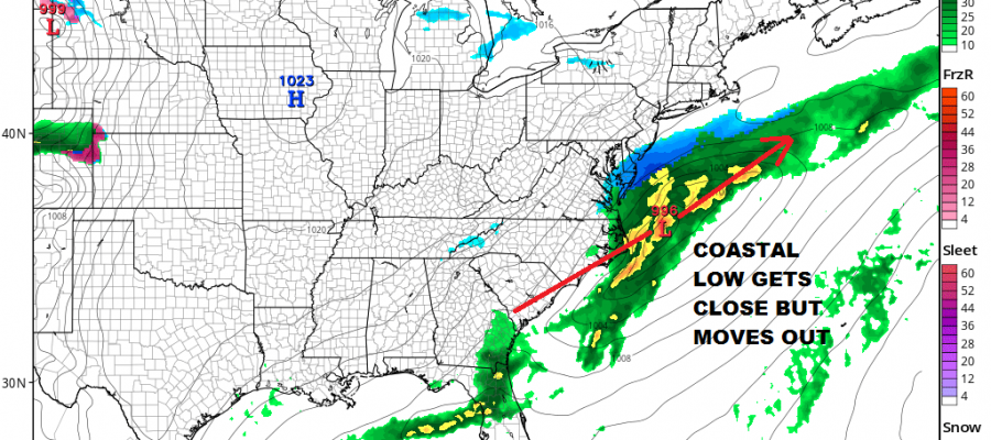 Weekend Storm Off The Table Showers Overnight Cold Weekend Watching Coastal Low Should Stay Offshore