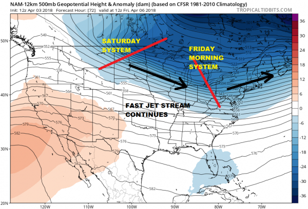 Cold Air Triple Lows Busy Pattern Continues