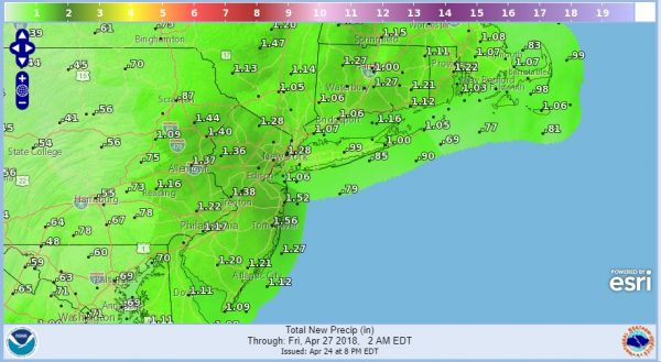 Rain Heavy At Times Much Warmer Weather Kicks Off May