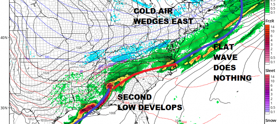 Snow Looks Like A Miss Second Wave Suggests Caution Coastal Areas