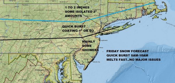 Burst of Snow or Rain Friday Morning, Snow Saturday Looking More Benign