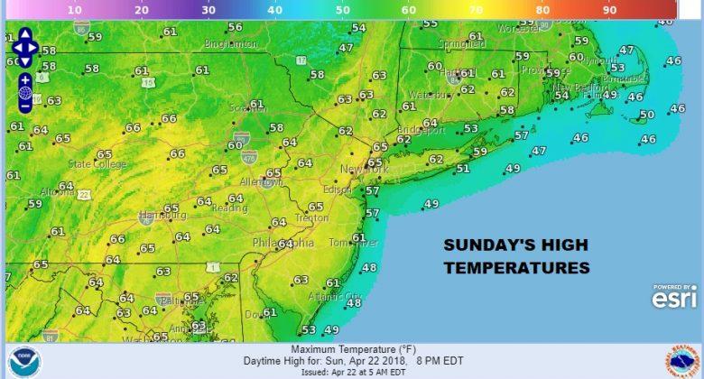 Sunday Monday Sunshine Spring 60s Tuesday Clouds Rain