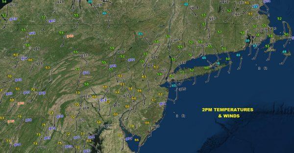 Warm Air Moving North Backdoor Front Looms Saturday