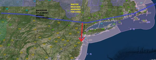 Backdoor Front Moving South Faster This Morning Winter Weather Advisory North