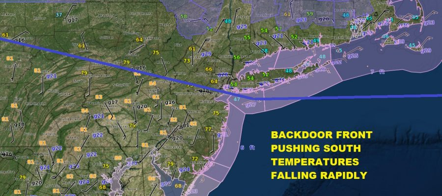 Temperatures Dropping Backdoor Front Moving South Miserable Sunday Ahead