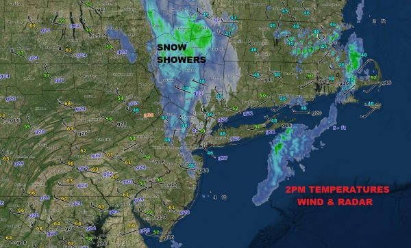 Snow Showers Today, Summer Mid & Late Week