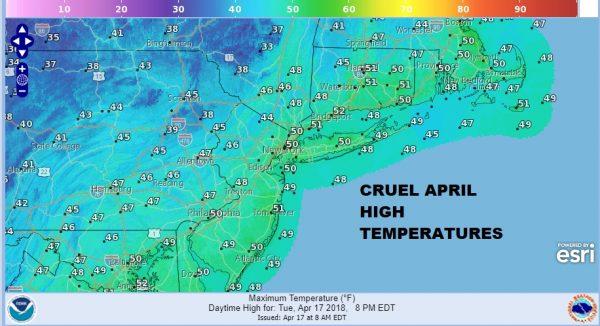 Clouds Cold Showers Flurries April Remains Cruel