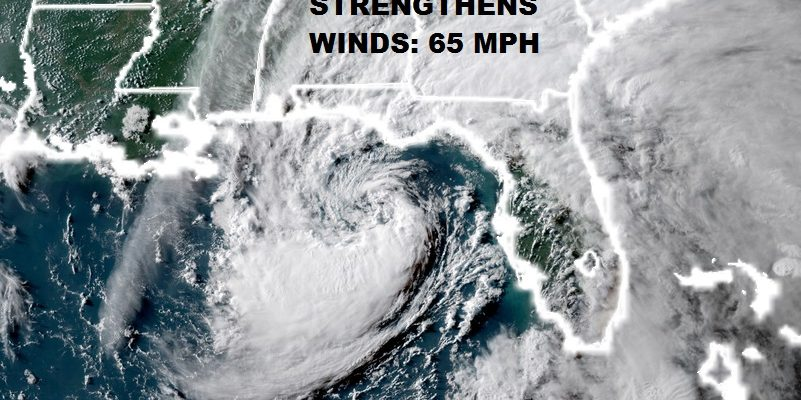 Alberto Strengthens Winds 65 MPH Moving Toward NW Florida