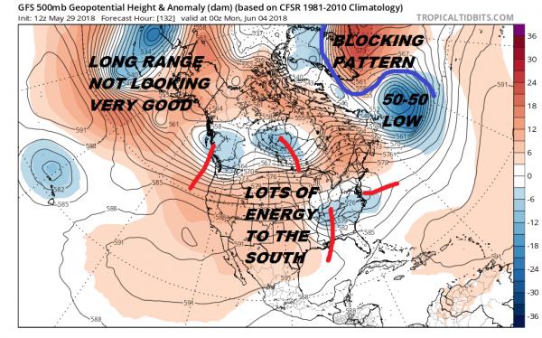 Blocking Pattern Means Gloomy Weather Ahead Long Range