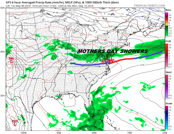 Mother's Day Issues Developing With Cold Front Dropping Southward