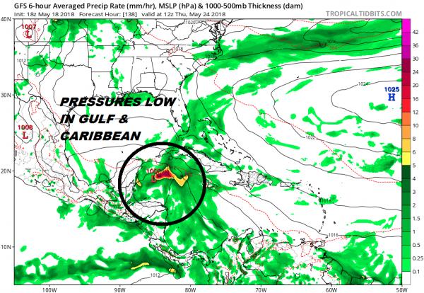 Tropical Flow Breaks Down Briefly Next Week Before Returning