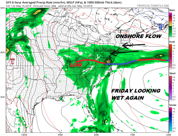 Rain Continues This Evening Front Buckles Again Thursday