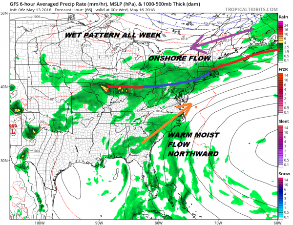 Mothers Day Gloominess Showers Week Ahead Forecast