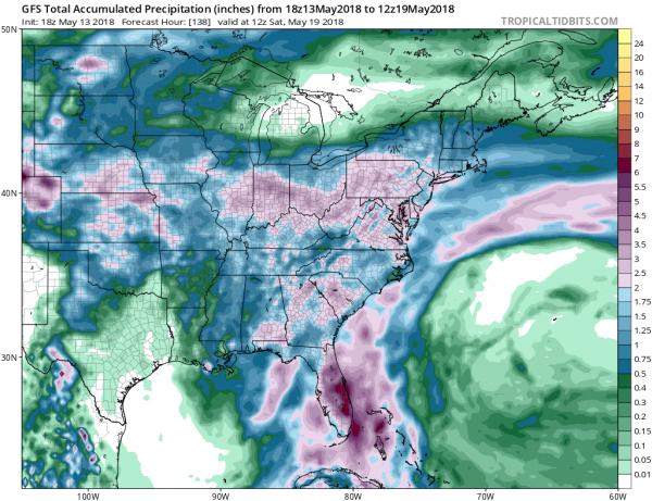 Wet Weather Pattern All Week Long