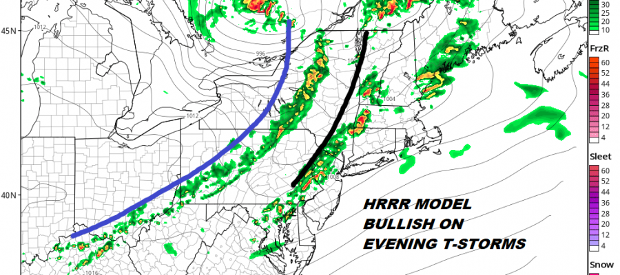 Scattered Showers Thunderstorms Tonight Mixed Cooler Weekend