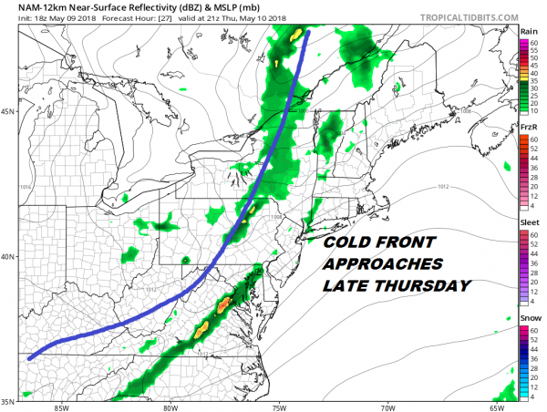 Showers Late Thursday Saturday Mother's Day May Improve