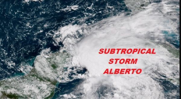 Subtropical Storm Alberto Forms NW Caribbean Tropical Storm Watches Gulf Coast