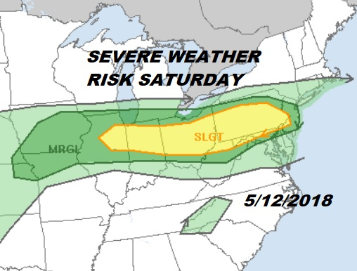Severe Weather Risk Saturday Cloudy Damp Mother's Day