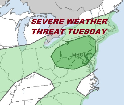 Showers Overnight Severe Weather Threat Tuesday