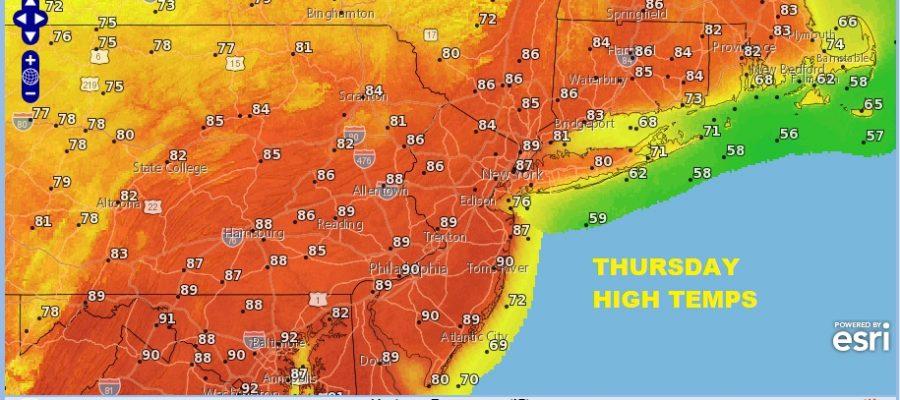 90 Degree Highs Again Slight Chance Late Thunderstorm