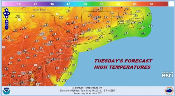 Severe Weather Threat Late Tuesday Cold Front Approaches