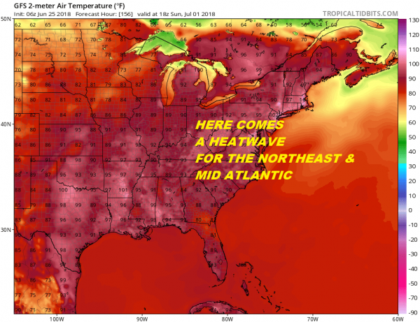 Week Starts Great Heatwave Looms Long Range Into Next Week