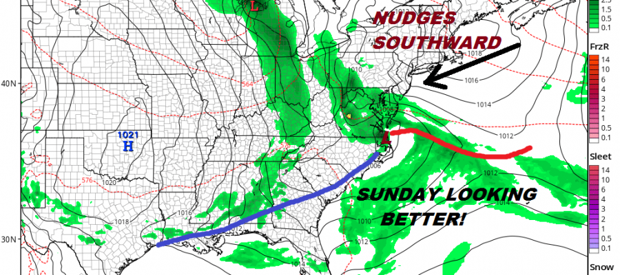 Stronger Blocking Means Optimism Grows For The Weekend Cloudy