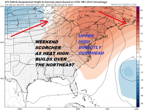 Heatwave Could Last 7 Days Across Much of the Northeast & Middle Atlantic