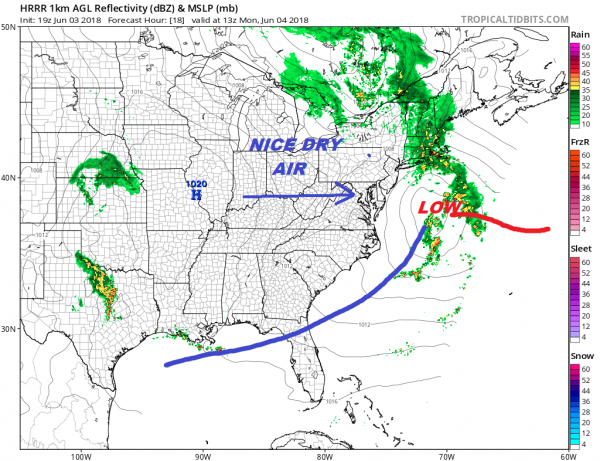 Rain Moving Northward Overnight Weather Improves This Week