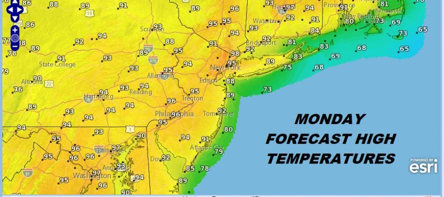 Fathers Day Weekend On Course Record Highs Possible Monday