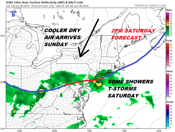 Canadian Grip Relaxes Thursday Showers Saturday Dry Sunday