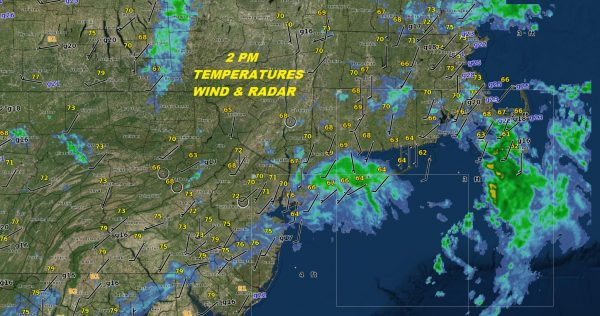 Showers Moving East T-Storm Tonight Great Weather Follows
