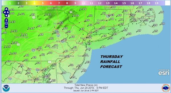 Low Humidity Transitions to Higher Humidity Thunderstorms Thursday