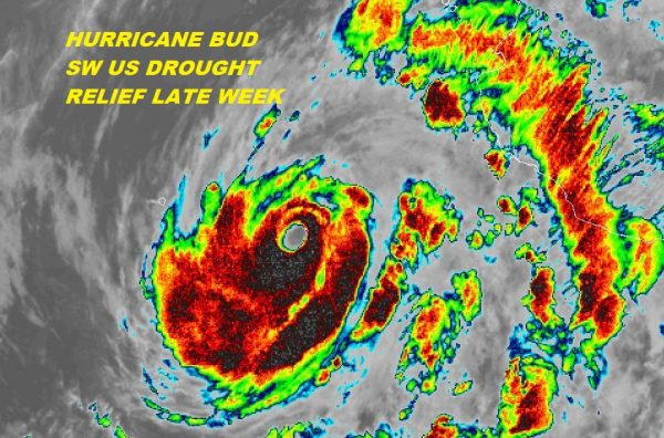 Hurricane Bud 130 MPH CAT 4 Could Ease SW US Drought