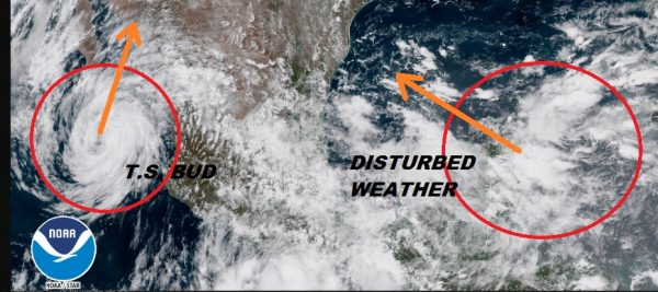 Tropical Storm Bud SW Drought Relief Disturbed Weather NW Caribbean