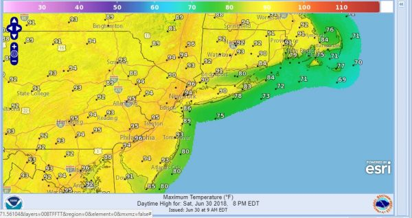 HEATWAVE NEAR 100 DEGREES RECORD HIGHS POSSIBLE