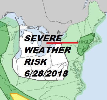 Severe Weather Risk Thunderstorms Popping Up