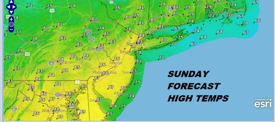 Warm Humid Sunday Less Humid Monday Hot Next Weekend