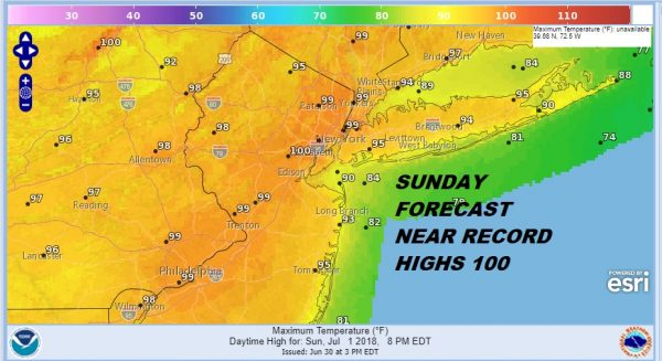Heatwave Day 3 Record Highs Near 100 Degrees Urban Centers