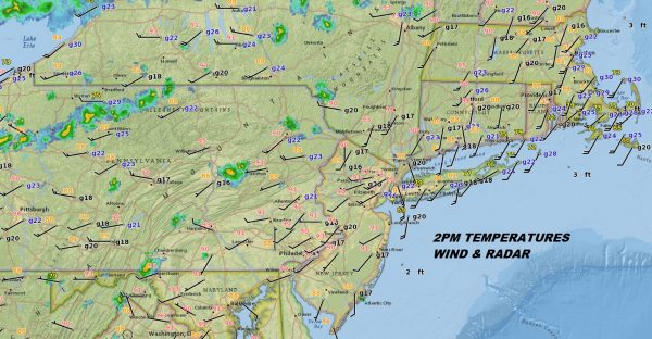 Severe Weather Risk Northern NJ, Hudson Valley NE PA Connecticut