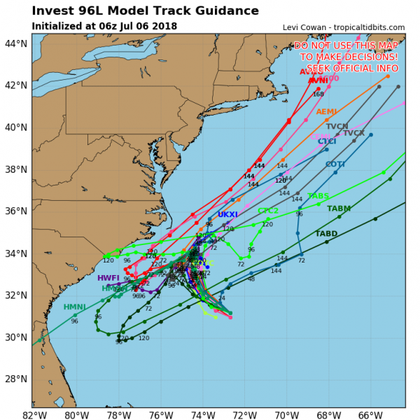 Disturbed Weather Off Southeast US Coast Better Organized
