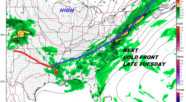 Very Warm Humid Scattered Downpours Thunderstorms Weekend Thunderstorm Risks Cold Front Arrives Tuesday