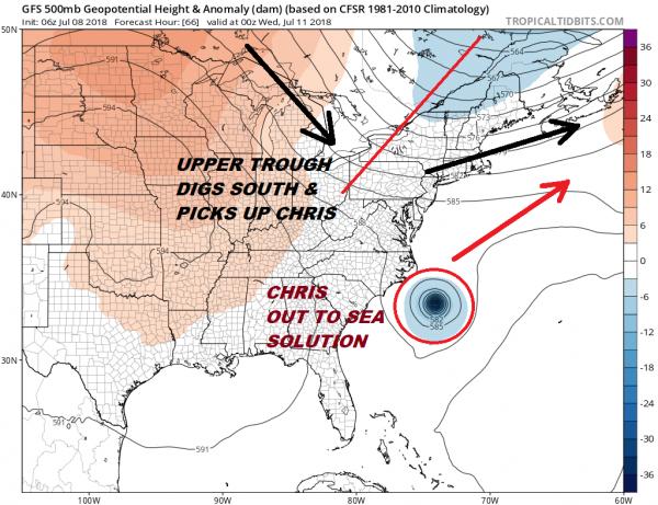 Tropical Storm Chris Better Organized Hurricane Strength Monday