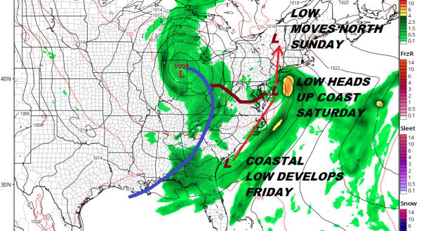 Weekend Weather Wet Pattern Develops Coastal Low Moves North