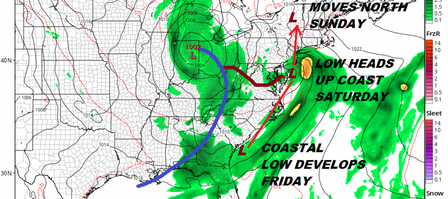 Weekend Weather Wet Pattern Develops Coastal Low Moves North