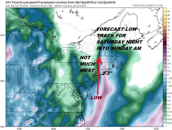 Low Shoots Northward Rain Wind Saturday Night Coastal Areas