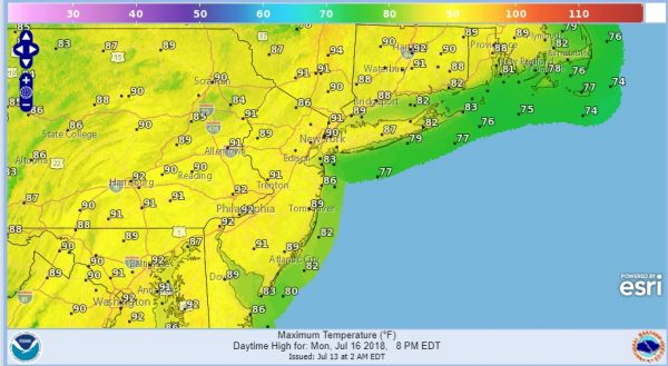 Warmer More Humid Weekend Cold Front Late Tuesday